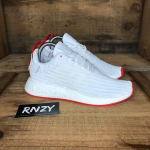 NEW Adidas NMD R2 Core White Red
